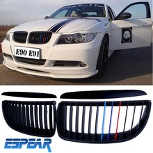 New 1pair For BMW E90 E91 4D 3 Series E90 Front Grille Kidney E91 Grills 05-08 Matte Black with Retail Package #919