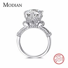 R&J 4.0ct AAAAA Level CZ Ring Fashion Women Gift 925 Solid Sterling Silver Jewelry 2016 Brand Wedding Ring Flower Crown  Design