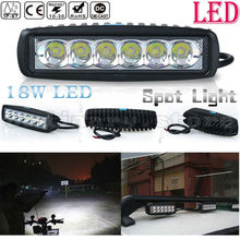 Super Bright 18W 6 LED Car Auto Truck Offroad SUV 4WD ATV Boat Bar Work Light Driving Fog Spot Night Safety Lamp Waterproof