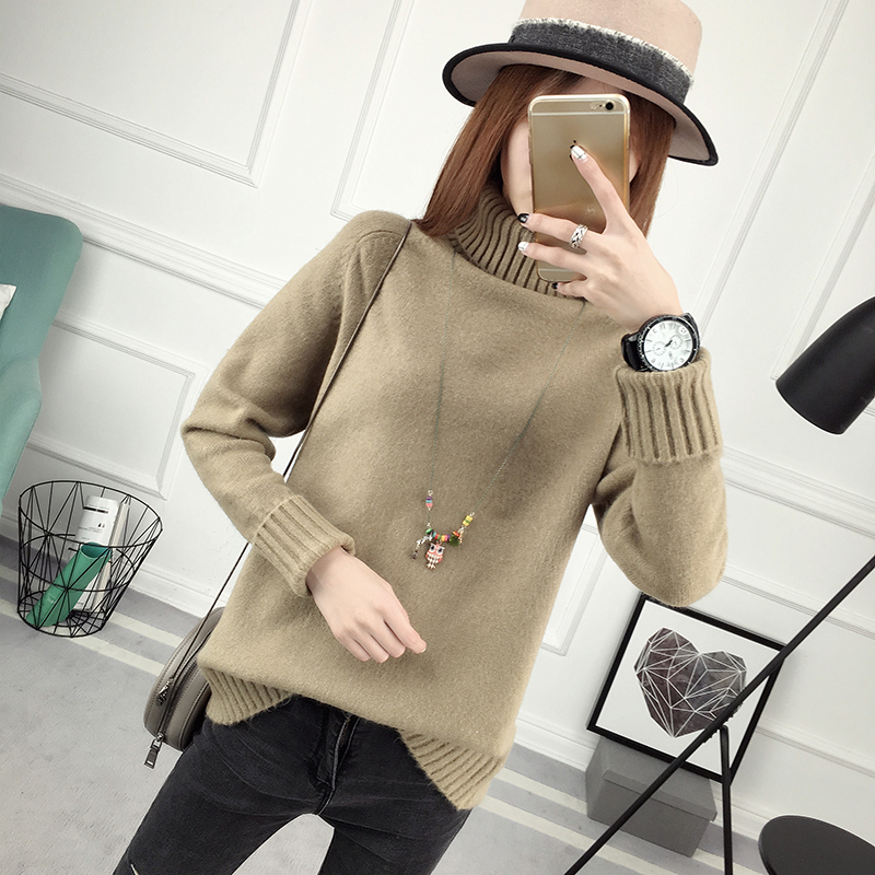 Winter Turtleneck Sweater, Women's 2017 New Design Thick Pullover 25