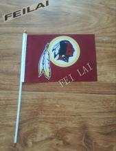 14 * 21 cm Washington Redskins small Hand flag Hand waving flag activities decorative quality polyester 10pcs/lot(China)