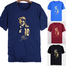 Men's Short sleeve t-shirt Lionel Messi figure autograph Barcelona Camp Nou Champion jersey Argentina(China)