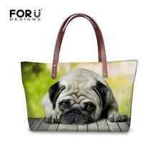 Cute 3D Zoo Animal Handbags Woman Casual Totes Bags Dog Cat Print Shopping Travel Large Top-Handle Bags Waterproof Lady Mochila