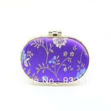 75*60*11mm Classic Flower Pattern MINI Oval Makeup Mirror Compact Pocket Mirror Makeup Accessories 10pcs/lot HZ043