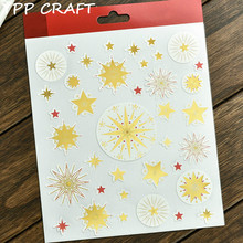 YPP CRAFT Stars Self- adhesive Epoxy Sticker for Scrapbooking/ DIY Crafts/ Card Making Decoration