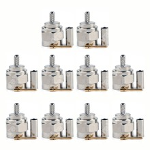 Sale 10 Pcs Connector F Male Plug Crimp RG174 RG316 LMR100 Cable Straight PTFE Wire Connector High Quality minijack plug