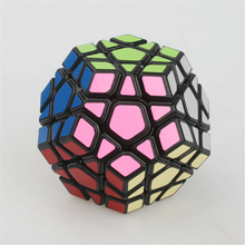 Most Brain New YJ YUHU Megaminx Puzzle Cube Action Figures Magic Speed Cube Megaminx SsXz Cube Black Color Educational toys