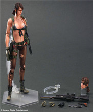 Square Enix Play Arts Kai Metal Gear Solid V Phantom Pain Quiet Doll Game PVC Action Figure Resin Collection Model Toy Gifts
