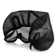 QILEJVS 3D Motorcycle Electric Bike Breathable Net Seat Cover Protector Cushion Black(China)