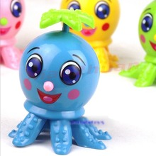 1PC Lovely Octopus Cartoon Animal Wind Up Clockwork Design Toys Funny For Children(China)