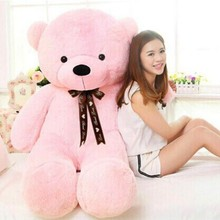[5COLORS] 2m Giant teddy bear huge plush stuffed toy brown white toys embrace kid baby doll birthday valentine gift girls lovers(China)