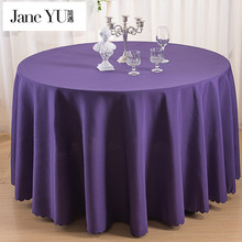 JaneYU 100% high quality Polyester Round Tablecloth Dining Table Cloth For Hotel Office Wedding Home Decoration In Solid Colors