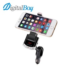 Digitalboy Multi Function Car Phone Holder Wireless Bluetooth Car Handsfree Calling Car FM Transmitter Mp3 Player USB Charger(China)