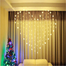 AC220V 2x1.5m 34 Butterfly LED Curtain String Lights Lamp New Year Garden Christmas Wedding Party Ceiling Decoration 220V(China)