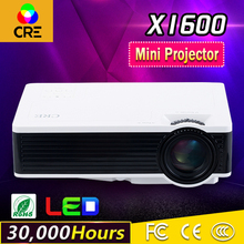 2016 brand CRE New X1600 mini projector Home Theater Video LCD Tv Cinema pico HDMI Portable Full HD 1080P LED Proyector Beamer(China)