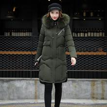SZMXSS Winter Wear Large Fur Collar Ladies Coats 2017 Winter Coat Women Parka Long Thick Slim Womens Coats And Jackets Outerwear(China)