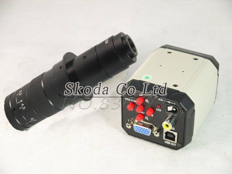 2.0MP HD 3 in1 Digital Industry Microscope Industrial Camera Magnifier VGA USB AV TV Outputs+180X zoom c-mount Lens C-mount Lens<br><br>Aliexpress