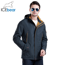 ICEbear 2016 Three Colors Large Size Polyester Thin winter jacket Men parka Spring Casual Warm Coat 17MC853