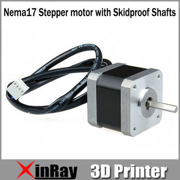 Free Shipping Hot Selling 3D Accessaries Nema17 Stepper Motor with Skidproof Shafts,4-Lead Wire,1.8 degree GT050