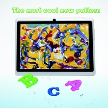 Suitable for promotion 7inch android tablets pc for kids and babys tab becutiful  wifi otg dual camera white color 7 8 9