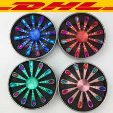 Buy New 100Pcs/Lot Alloy Rainbow Peacock hand Fidget Spinner Alloy flash Rhinestone Finger Gyro EDC Adult Anti Stress Relief Toys for $359.99 in AliExpress store