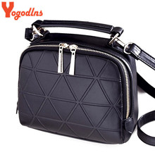 Yogodlns New Fashion Women Solid PU Leather Handbag High Quality Chain Shoulder Lady Messenger Bag Candy Color Crossbody Bags