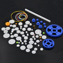 78 Pcs Mixed Plastic Gear Motor Gearbox DIY Repair Model Toys Car Ship Robot Craft Model Accessories Scientific Experiment(China)