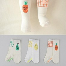 Infant Toddler Kids Crib Babe Soft Socks Baby Girls Newborn Kids Fruit High Top Boots Cute Pineapple Design Socks