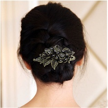Fashion hair clips for women wedding hair barrette Vintage Rose Hairpins hair accessories for women prendedor de cabelo(China)