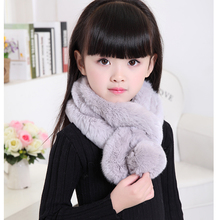 2017 New Real Rex Rabbit Fur scarf Girls Real Rabbit fur Scarf Winter Neck Warm Shawl Retail / Wholesale Solid Uniser Hat S#12(China)