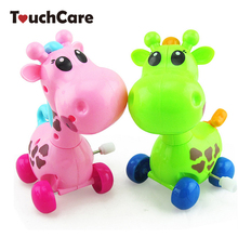 Cute Cartoon Animal Giraffe Clockwork Wind Up Baby Toys Running Head Tail Swing Classic Newborn Toy Children Gift Spring Toy(China)