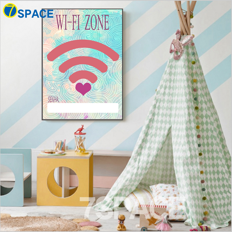 7 Space Modern Home Wifi Zone Quotes Wall Art Canvas Painting Posters And Prints Living Room Pictures Decoration No Frame