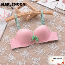 Sexy bras young girl 3/4 medium cup Cute girls bra gather together to adjust the type of underwear thin paragraph close breast