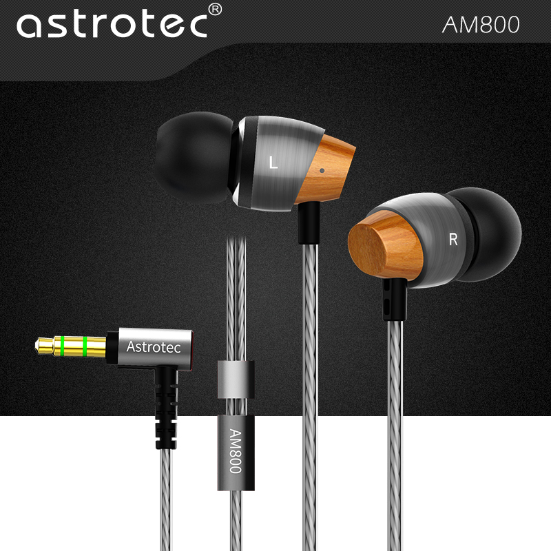 Astrotec Stero Dynamic HIFI Bass In-ear Eerphone AM800 8-27000Hz 16OHM 112dB/1mw 3.5mm Plug for iPhone Android Phone Gaming<br>