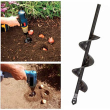 Garden Auger Spiral Drill Bit Roto Flower Planter Bulb HEX Shaft Drill Auger Yard Gardening Bedding Planting Hole Digger Tool(China)