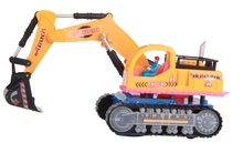 Electric truck excavator with music luminous excavator Universal function model toy