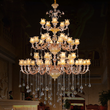 hotel Light candelabro EXtra long large chandelier crystal chandelier lustres de cristal white candle holders lamp living room(China)