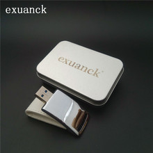 exuanck Custom Wedding Photography Leather Metal USB 3.0 Memory Stick Flash Drive 4GB 8GB 16GB 32GB 64GB (over 30pcs free logo)(China)