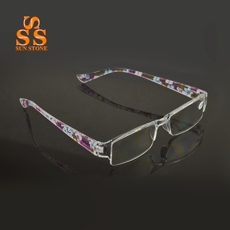 High Quality Fashion Colors Unbreakable Reading Glasses Women Men Ultralight Anti Fatigue Flower Temple Presbyopic Magnifier 391<br><br>Aliexpress