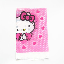 1pcs/lot Cartoon Hello kitty Plastic Table Cloth Kids Birthday Party Decoration Baby Shower Supplies Disposable Tablecloth(China)