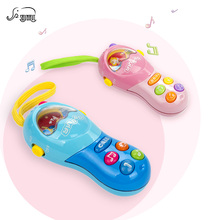 SHUNHUI Baby Mini Electronic Mobile Phone Toy Kids Musical Cell Phone with Music Sound Song Learning Toys Gift for Children(China)