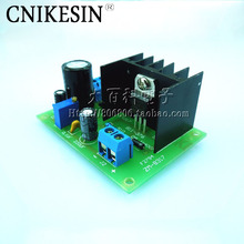CNIKESIN LM317 kit with rectifier AC DC input bulk large heat sink plate voltage adjustable voltage power supply board(China)