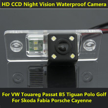 For VW Touareg Passat Tiguan Polo Sedan Santana Golf V Skoda Fabia Porsche Cayenne Car CCD Night Vision Backup Rear View Camera
