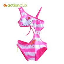 Actionclub Character Kids Swimming One Pieces Baby Girls Bathing Suit Children 2016 Summer Swimsuit Elsa Anna Swimwear KW072