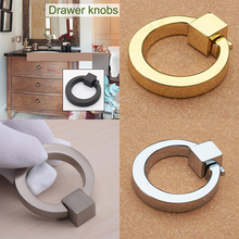 New Arrival Dresser Knobs Pull Ring Drawer Knob Pulls Cabinet Door Knobs Gold Rings Handle For Hardware Tools