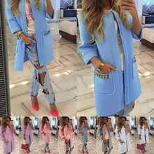 2016 New Brand Women's Long Sleeve Knitted Cardigan Loose Sweater Outwear Coat lady fashion Winter Trench 5 Colors