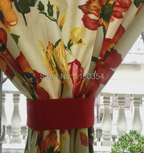 Flower cotton curtains, Door Curtain, hanging curtains, decorative curtain, intense color painting style