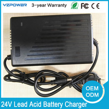 YZPOWER 24V 7A 7.5A Seal Lead Acid Battery Charger for 10A h 15A 20Ah Lead Battery With US EU UK AU Plug