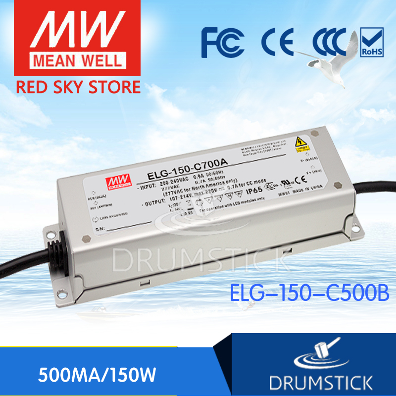Hot sale MEAN WELL ELG-150-C500B 315V 500mA meanwell ELG-150 315V 150W Single Output LED Driver Power Supply B type<br>