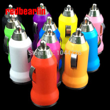 redbearlin 1000pcs Colours Mini Car Chager Adapter for Cell Mobile Phone iPhone 3G 3GS 4 4S 5 iPad iPod MP3 MP4
